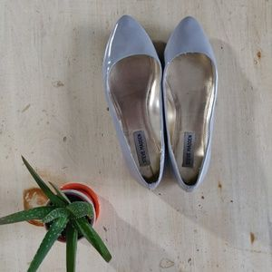 NWOT Steve Madden Angel patent gray flats pointed